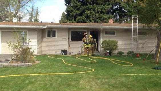 Spokane Valley Firefighters were called to two working structure fires Friday morning