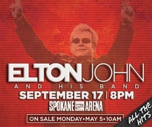 Elton John will be at the Spokane Arena on September 17, 2014. Tickets go on sale Monday, May 5th at 10am.