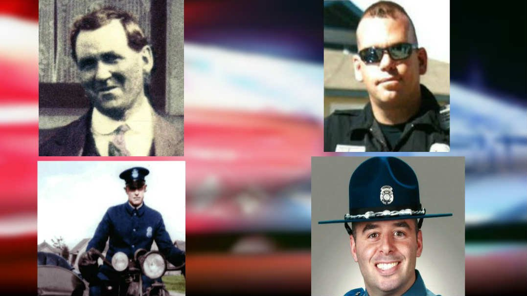 Four officers were added to the Law Enforcement Memorial on Tuesday