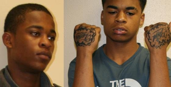 Demetrius Glenn (left) & Kenan Adams-Kinard (right) were arrested for the murder of Delbert Belton