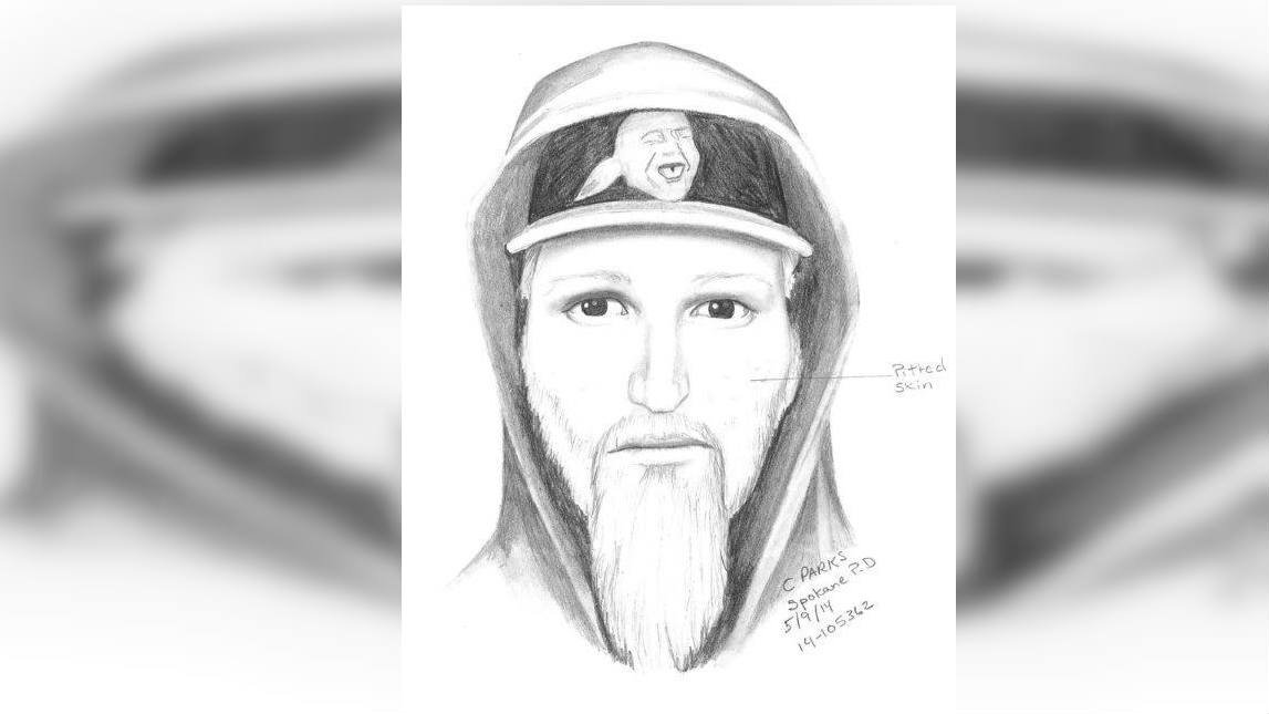 Spokane Police released this drawing of the stabbing suspect on Friday
