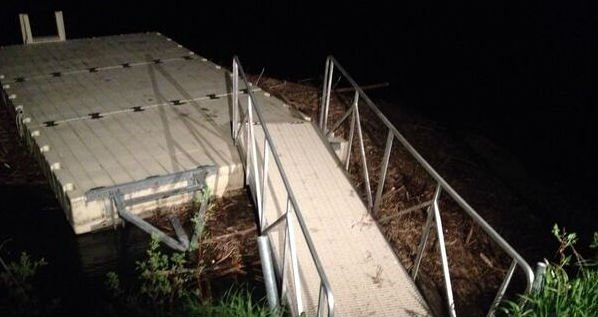 A homeowner in the 7 Mile area found the body of a man wedge up against his dock on Monday