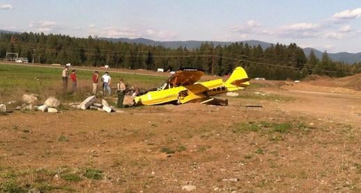 Two men were aboard this plane when it went down near Hayden on Wednesday