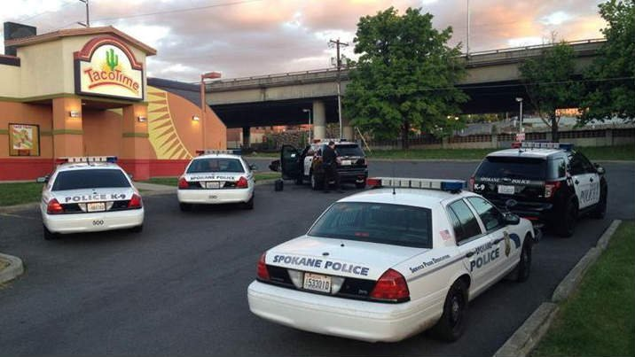 Taco Time on 3rd Ave. was robbed at gunpoint Monday night. Spokane Police did not find the suspect