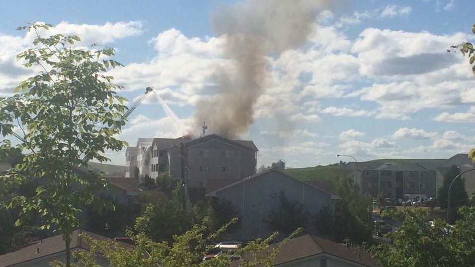 Viewer Mason Solory sent in this photo of an apartment fire in Moscow