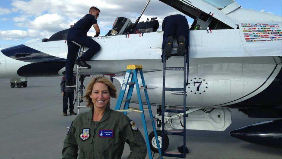 KHQ's Leslie Lowe Flew With The U.S. Air Force Thunderbirds prior to Skyfest 2014