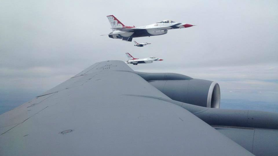 KHQ's Patrick Erickson went on a refueling mission on a KC-135 prior to Skyfest