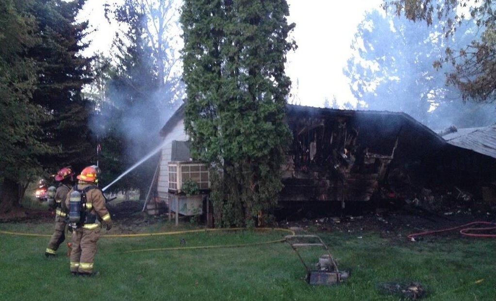 The result of the Medical Lake house fire on Friday night.