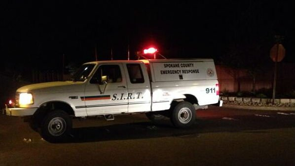 The SIRT Team blocks off roads near 32nd and Best in Spokane Valley while deputies investigate a stabbing Tuesday night