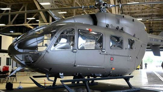 The Washington National Guard unveiled new helicopters on Friday at Fairchild Air Force Base