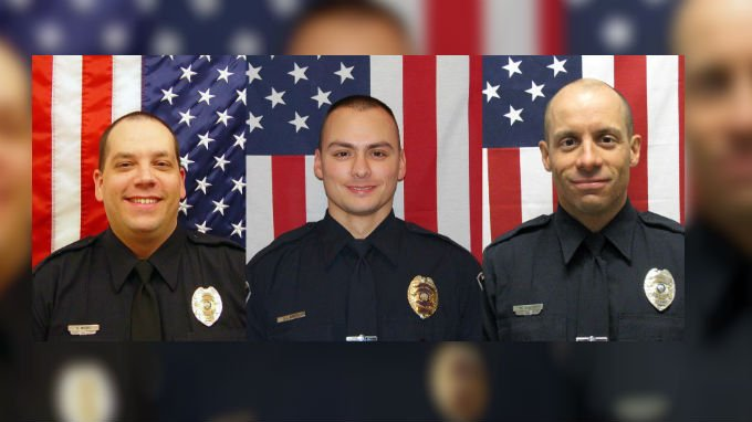 From Left to Right: Sgt. Greg Moore, Officer  Jacob Nielsen & Officer Johann Schmitz were identified as the officers involved in a shooting in Coeur d'Alene on June 6th.