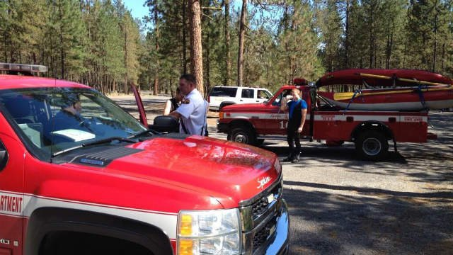 Seven people were rescued from the Spokane River Monday afternoon
