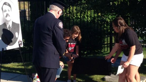 A plaque honoring Spokane Firefighter John Knighten was unveiled on Monday