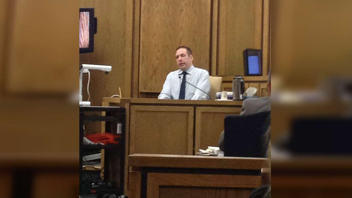 Stoddard takes the stand during his trial