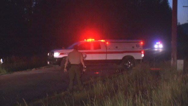 One man was taken to the hospital Thursday night after crashing his motorcycle into a deer off of Highway 395.