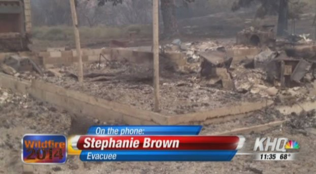Stephanie Brown, from Brewster, said she has received several calls from friends who have lost their home in the fires.