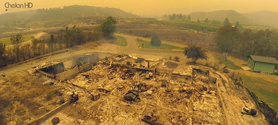 Devastation from Carlton Complex Fire over Brewster and Pateros from Chelan HD Productions.