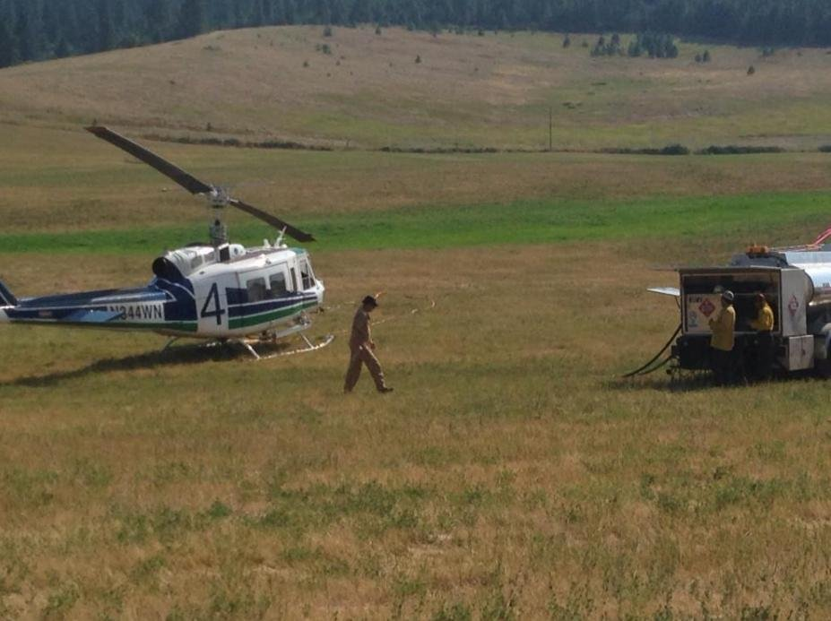 Stevens County refueling helicopter