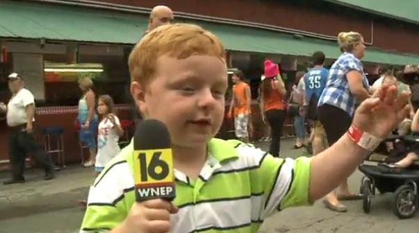 "Noah Ritter loves the word ""apparently."" (PHOTO: YouTube/WNEP)"