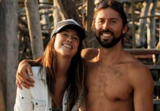© Jainee Dial and her fiance of only a few hours, Brad Parker who died in a fall Saturday while climbing alone in Yosemite National Park.