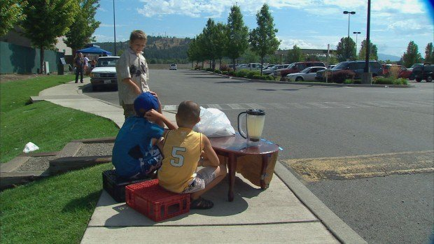 Four young brothers in East Spokane have been working a lemonade stand all summer to raise money for school supplies.