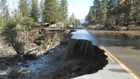 Highway 153 in Methow Valley. PHOTO tweeted out by WSDOT