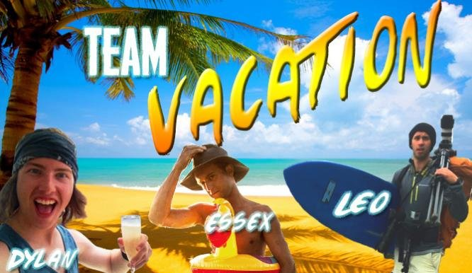 "Local man Essex Prescott makes up one-third of ""Team Vacation"""