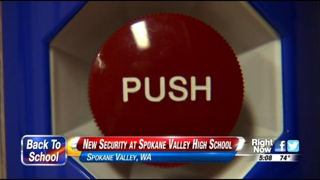 The West Valley School District is putting in a new security system at one of its high schools. It involves new double doors, and an emergency button system.