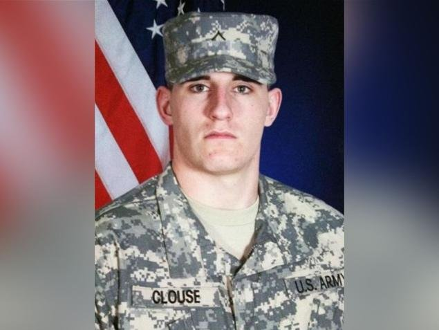 """Justin Clouse, 22, one of the 5 soldiers that were killed in the """"Friendly Fire Attack."""""""