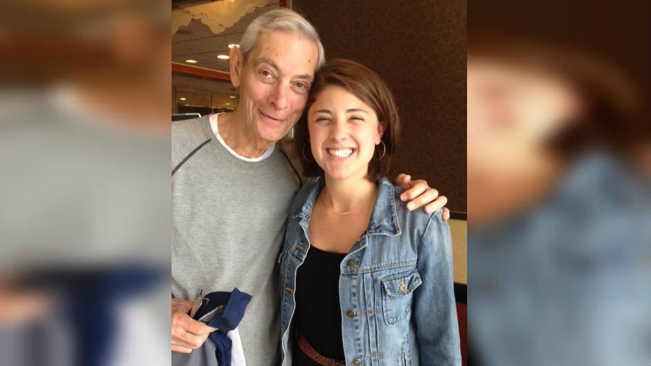 KHQ's Allison Flicker with her grandpa Bernie