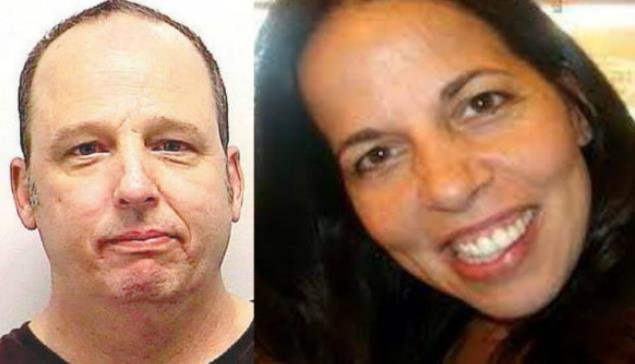 Charles Capone (left) is on trial for the murder of his estranged ex-wife Racheal Anderson (right)