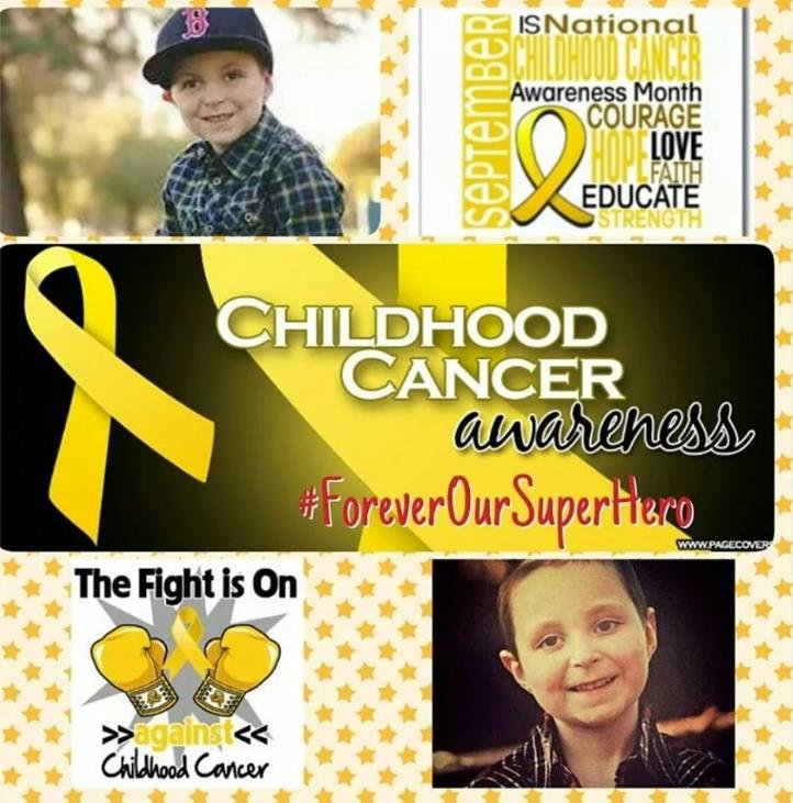"""© Cash passed away 7 months ago from brain cancer. """"Our superhero forever. Miss you Cash."""""""