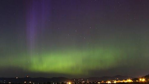 Photo of the Northern Lights north of Liberty Lake from KHQ viewer Travis in 2013.