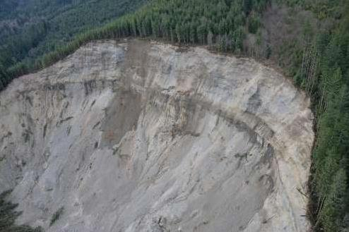 Oso Mudslide. Photo Credit: King County Sheriff's Office - Air Support Unit