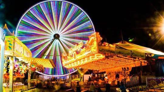 The Spokane Interstate Fair at night in September 2014