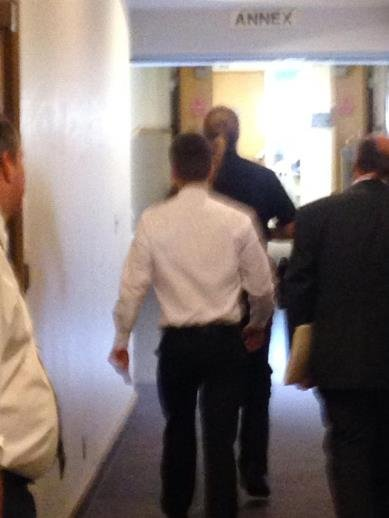 Preston Maher leaving the courtroom after judge granted plea of 60 days juvenile detention.