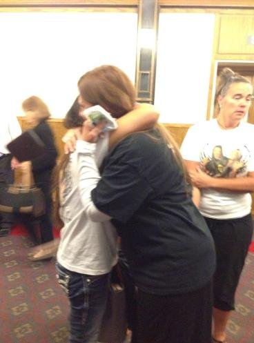McKenzie Mott's mother embraced after leaving courtroom. Judge declined her family's request for a longer sentence.