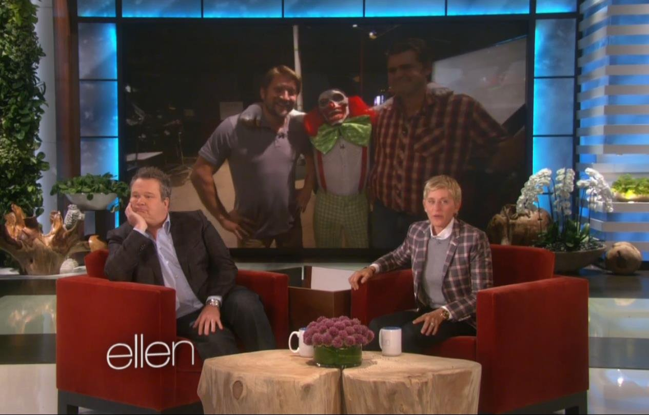 Ellen scares Eric Stonestreet for the 4th time!