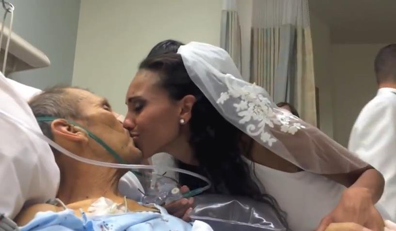 Lisa Wilson had a very special wedding in her father's hospital room. David Wilson was battling a very rare form of cancer. She wanted her father to be able to give her away and dance with her so she moved her wedding date up and changed the location.