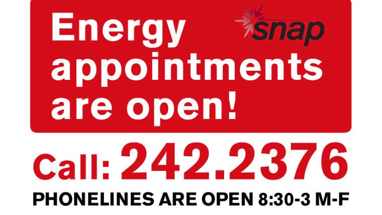 Appointments for SNAP's energy assistance program are now open