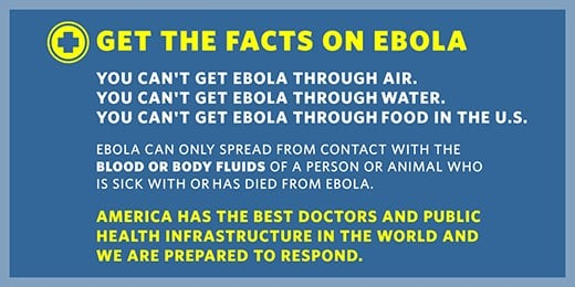 The CDC is trying to ease concerns Americans may have about the Ebola virus.