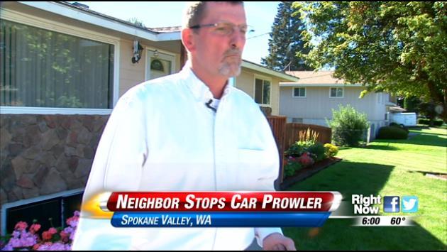 Spokane Valley Man Stops Prowler In Neighbor's Garage