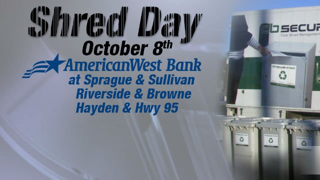 KHQ's Shred Day is October 8th!