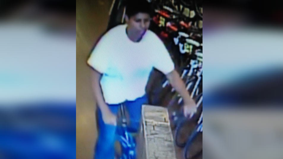 This person was caught on camera stealing a bike worth more than $2700 from Bike Hub in downtown Spokane