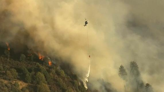 California fire officials say they have lost contact with an air tanker fighting a wildfire near Yosemite National Park.