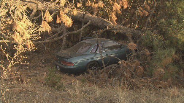 Washington State Troopers found this car abandoned early Monday morning near Tyler