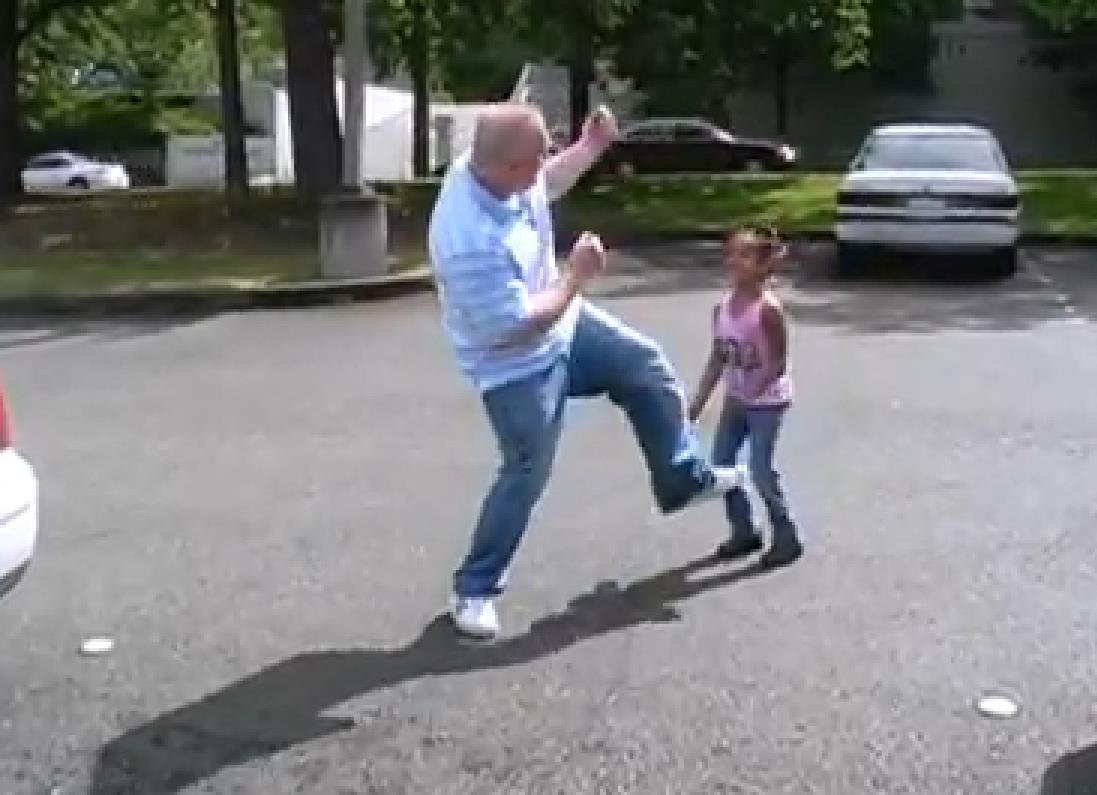 Dad has a dance-off with daughter