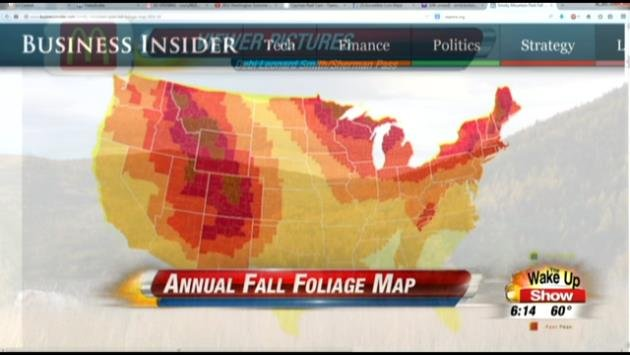 Fall Colors Map