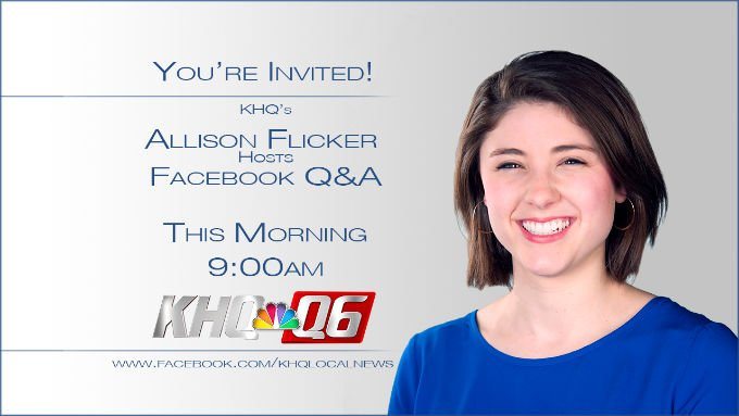 KHQ's Allison Flicker will be taking over KHQ's Facebook Page Wednesday morning!