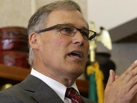 Jay Inslee during a trip to Eastern Washington